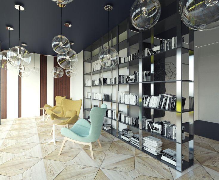Офис строительной компании. - 3D-проекты интерьеров в стиле лофт | PINWIN - конкурсы для архитекторов, дизайнеров, декораторов