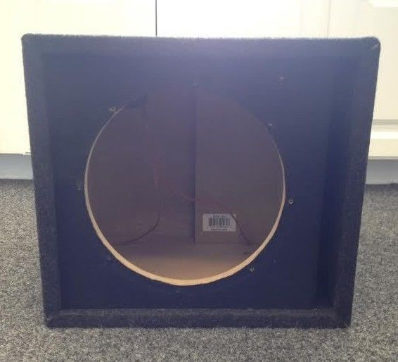 """Carpeted 10"""" Single Subwoofer Box priced at SOLD Available at Gadgets and Gold."""