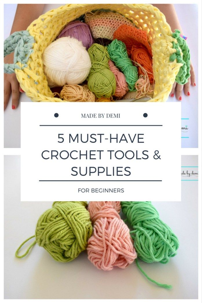 5 MUST-HAVE CROCHET TOOLS & SUPPLIES FOR BEGINNERS | free ebook download | made by demi