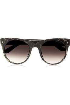 YVES SAINT LAURENT  Panther-print acetate D-frame sunglasses