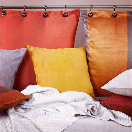 Pillow headboard achieve this look by using our pillows for Headboard made pillows
