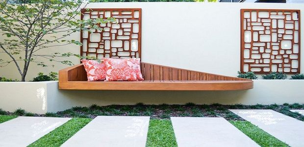 Panels Used Like Wall Art for Outdoor