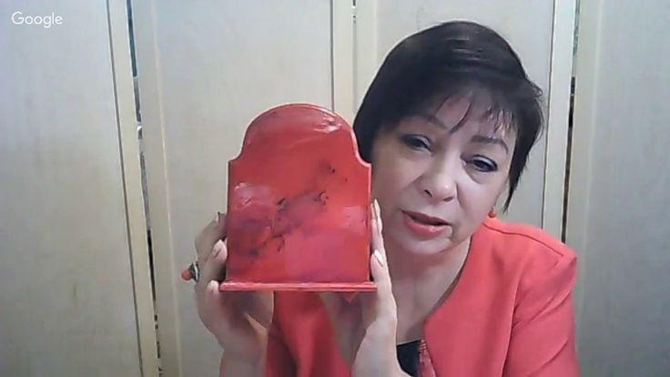 Фирдаус Батдалова, карандашница, имитация красной яшмы.