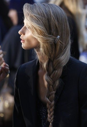 extra long hair in an extra long braid