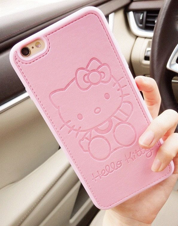 PU Leather Cute Hello Kitty Case For iPhone 5 6 7 s Plus TPU Silicone Phone Case #UnbrandedGeneric