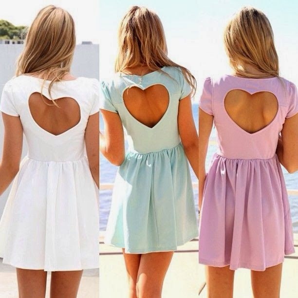 Heart back dresses