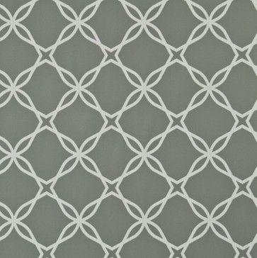 Twisted Grey Geometric Lace Wallpaper - modern - wallpaper - Walls Republic