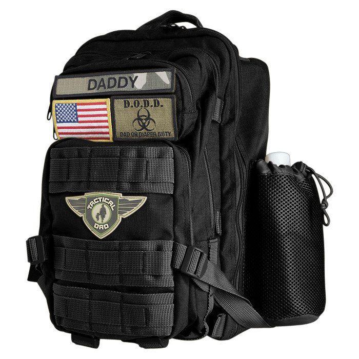 Black Dad On Diaper Duty(D.O.D.D.) Backpack XH w/ Badges