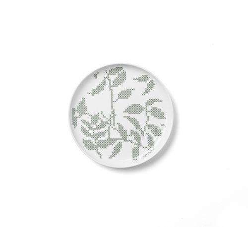 Talerz płaski Grey Leaves, 20 cm - Menu - DECO Salon. The formula is gentle and curious, because his style refers to the popular cross-stitch. #scandinaviandesign #kitchenaccessories #giftidea #dladomu #kuchnia