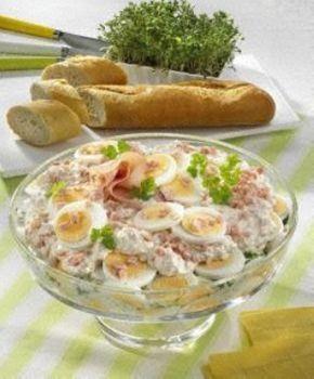 Eier-Schicht-Salat