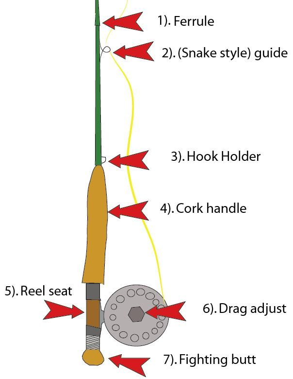 the parts of a fly fishing rod pinterest