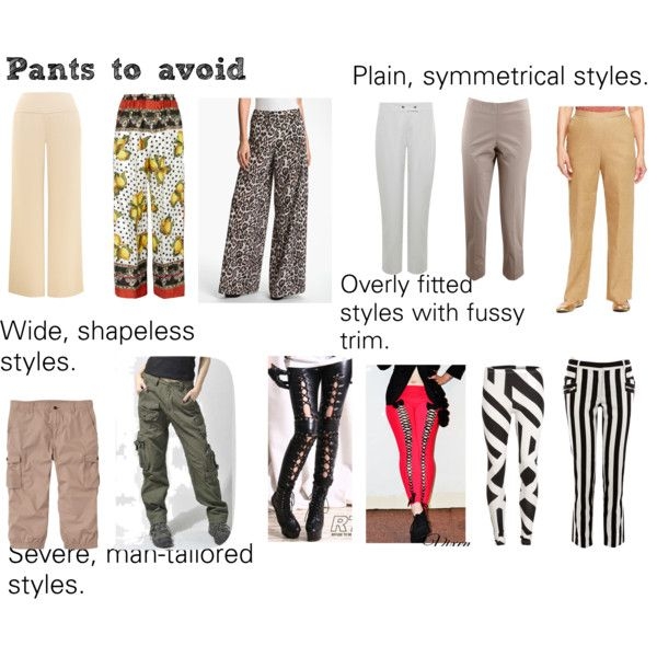 Soft Natural (SN) - Pants to avoid by lightspring on Polyvore  Pretty obvious, but anyway!