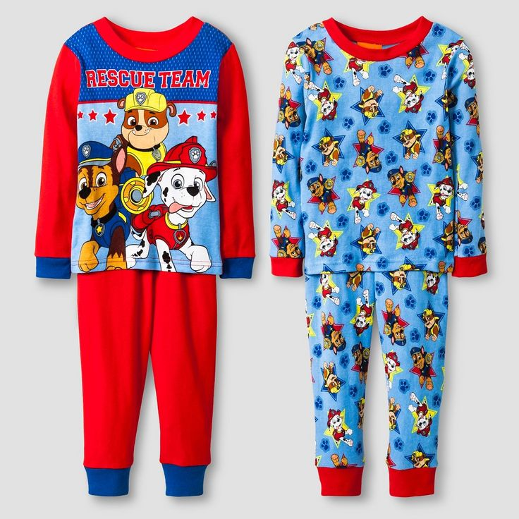 Toddler Boys' Nickelodeon Paw Patrol Pajama Set Multi Colored
