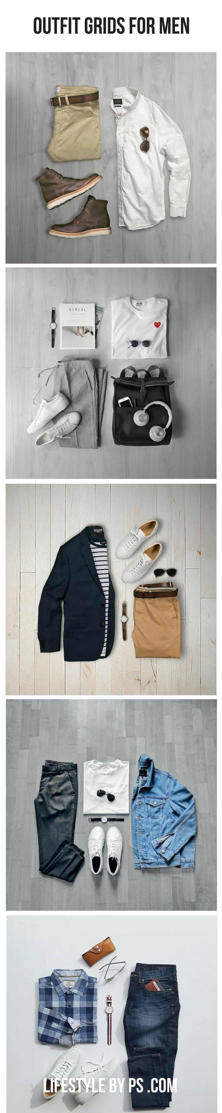 Awesome Outfit Grids For Men. - Tap the link to shop on our official online store! You can also join our affiliate and/or rewards programs for FREE!