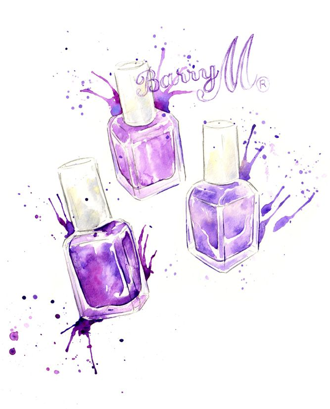 211 best images about nail polish illustrations on