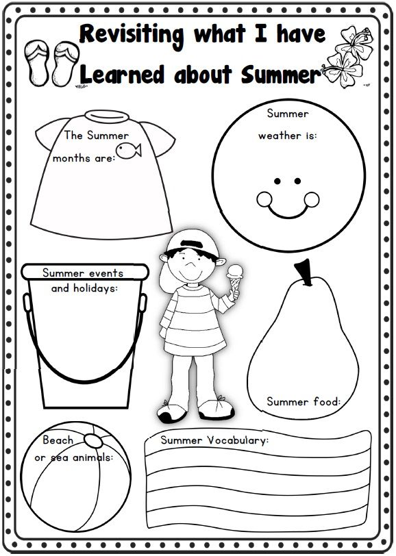 Summer Printable Worksheets : Best images about summer school on pinterest reading