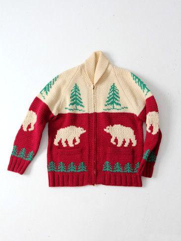 vintage 50s cowichan sweater - 86 Vintage