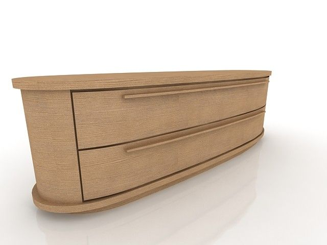 Low Chest Of Drawers 3D Model - 3D Model