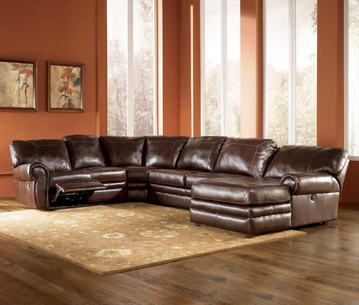 Nebraska Furniture Mart u2013 Ashley Pressback Chaise Sectional with Power Reclining Loveseat : nebraska furniture mart sectionals - Sectionals, Sofas & Couches