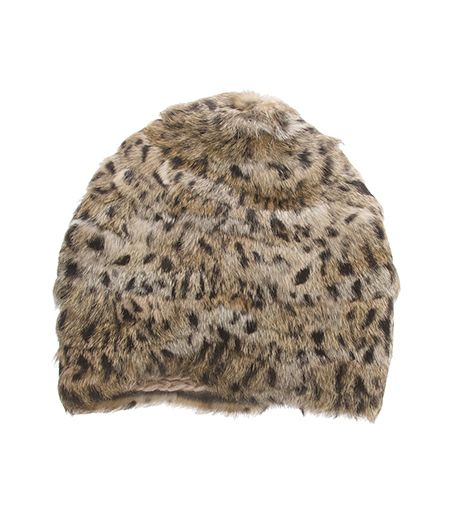 Need a cute hat to keep you warm this holiday shopping season? Shop this fab #leopard Lea Clement Fur Hat