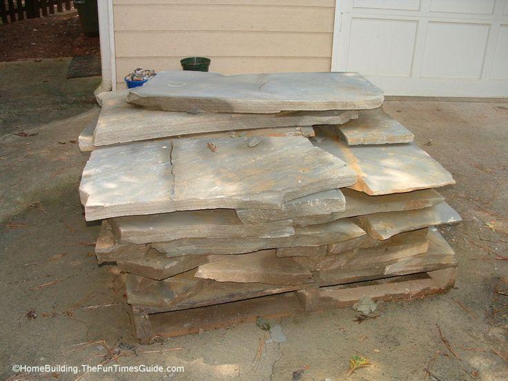 DIY Stepping Stone Walkway Ideas + Tips To Build Stone Walkways ...