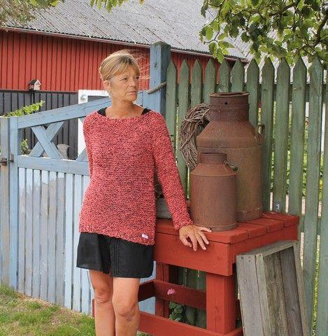 GREITZAN: En mysig lättstickad tröja av ett mystiskt garn