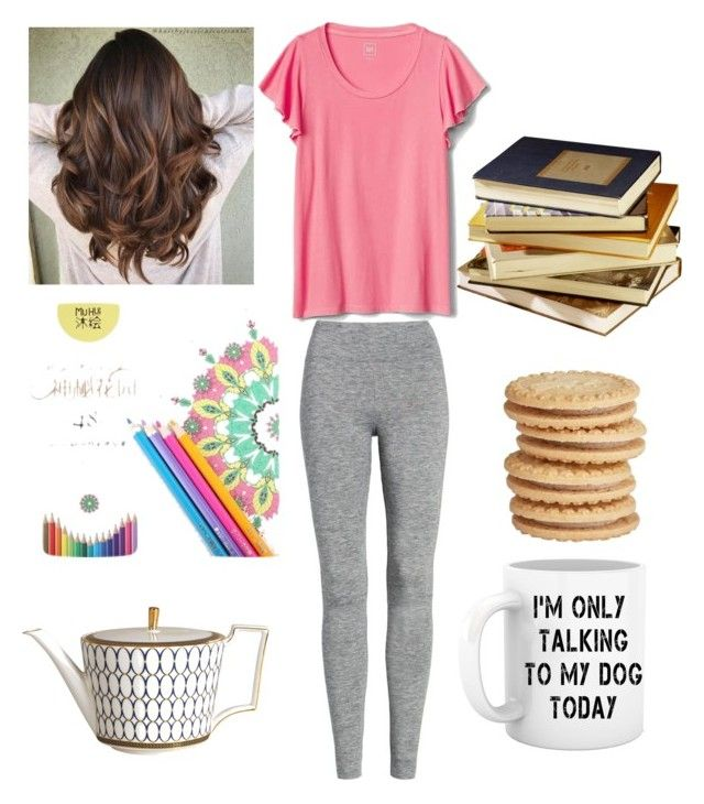 all by myself day by dasturi-roxana-gabriela on Polyvore featuring polyvore fashion style Treasure & Bond Wedgwood clothing LovelyLoungewear