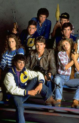 Pre-Dirty Dancing, Patrick Swayze, Jennifer Grey, Lea Thompson,Charlie Sheen,Brad Savage. Red Dawn 1984 film.