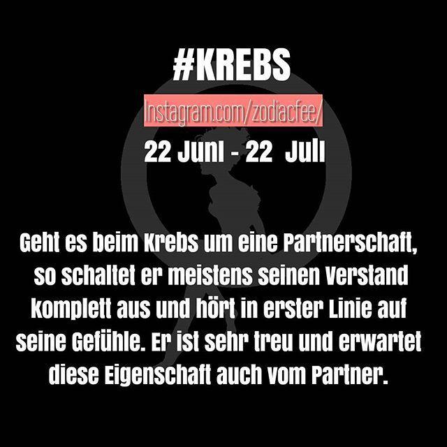 Markiert Eure Freunde vom Sternzeichen Krebs.  #krebs #sprüche #sternzeichen #horoskop #german #zodiac #flirt #liebe @app_1000days @fun_love_and_style