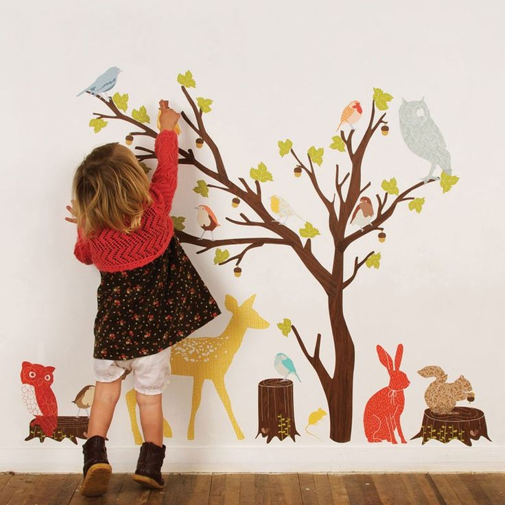 Woodland Scene - Wall Decals by Love Mae - playroom?