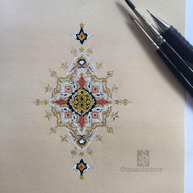 Islamic art - tezhip - islimi - Iranian illumination ©maaidanoor