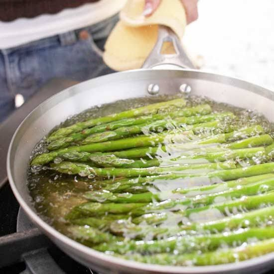 Learn how to cook the bunch of asparagus you picked up from the farmers market or grocery store. Here are our step-by-step instructions for cooking the delicious spring vegetable, plus some of the best ways to prepare asparagus. Roast asparagus for tender, slightly sweet spears; steam asparagus for crisp-cooked spears ready for flavorful toppers; grill asparagus during summer months when you're already grilling the rest of the meal; or saute asparagus for a quick weeknight side dish. Here...