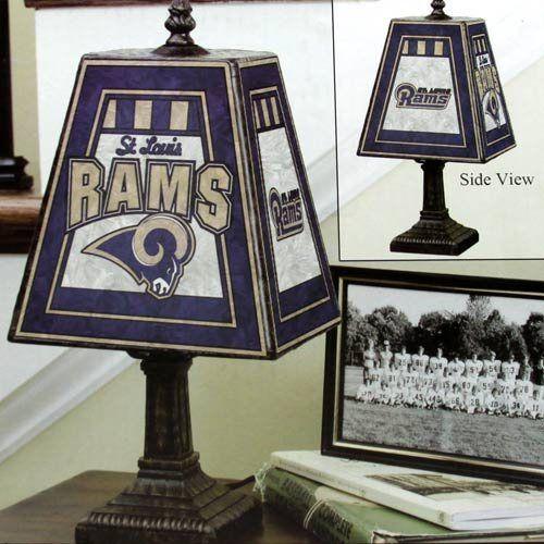 St. Louis Rams Art Glass Table Lamp