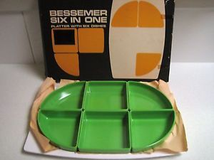 Retro Bessemer Europa SIX IN ONE Green Platter NEW IN BOX | eBay