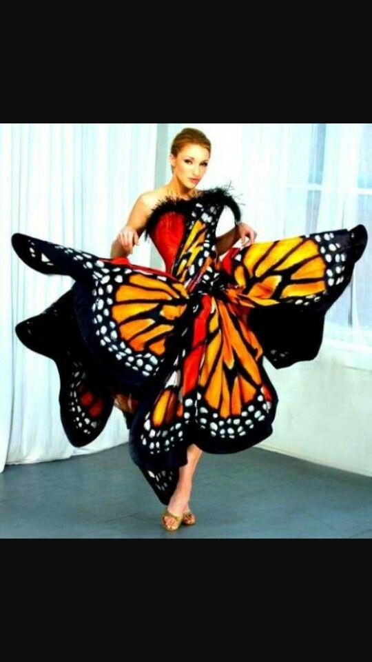 Vestito ispirazione farfalla