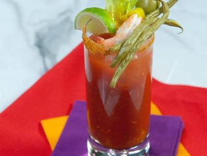 Bloody Mary` We use spicy tomato juice and add the Sriracha according to taste. We like them spicy!