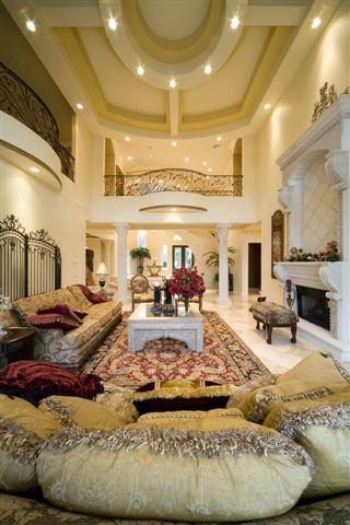 Luxurious yet comfy living room.