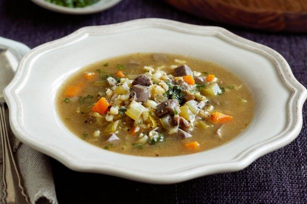 This Scotch broth recipe is a warming and wordly hearty soup.