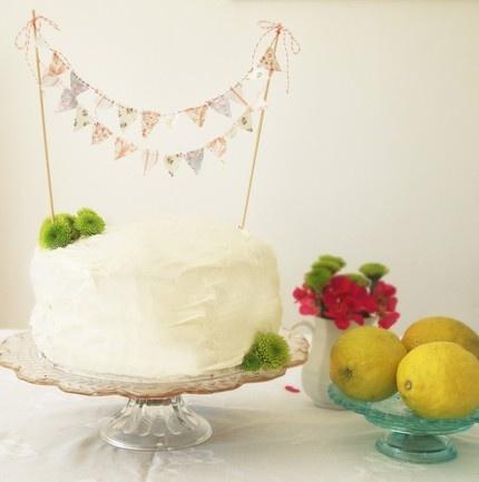 pretty cake bunting