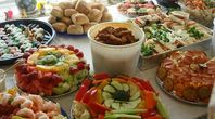 Finger food for a large party.