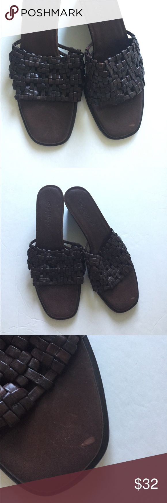 Cole Haan dark brown basket weave espadrilles.Sz 9 Up for sale are gorgeous dark brown espadrille sandals from Cole Haan. Great condition! Size 9. Basket weave style. Made in Brazil. 🌻All my items come from a 100% smoke free/pet free environment. 🌻Offers welcome. 🌻Check out my other items! 🌻Happy to bundle for discoun Cole Haan Shoes Sandals