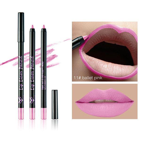 HUAMIANLI Lip Liner Pen Makeup Waterproof Lips Pencil Cosmetic 12 Colors