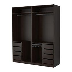 combinations without doors pax system ikea closet. Black Bedroom Furniture Sets. Home Design Ideas