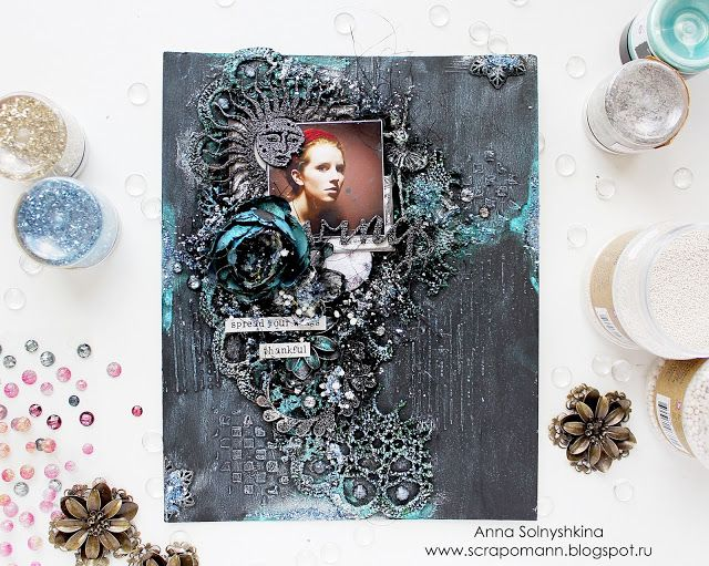 Hello my friends,   today I want to share with you special canvas about   my love to music.   I add a picture of my favorite singer - ...