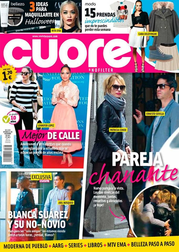 Aparición en la revista Cuore. #moda #modamujer #prensa #joyas #bisuteria #pippajeans #pippaandjeans #revista #periodico #tv