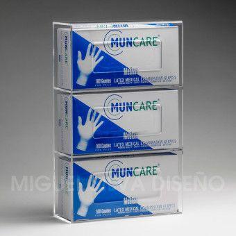 PG-3-A-caja-porta-guantes-triple-con-guantes-clinicos