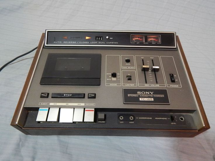 Vintage Sony Tc 165 Stereo Cassette Recorder Player Sony Cassette Recorder Cassette Stereo