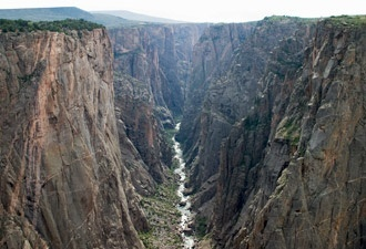 Black Canyon of the  Gunnison Natl Park, Colorado. Amazing place, canyon is so deep it looks black as you look down.