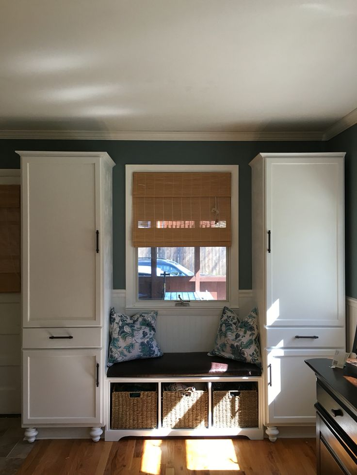 Built In Benches In Almost Anywhere Of A Home: Mudroom Storage Solution. Under $750!! Stock 24'' Pantry Cabinets From Home Depot, Existing