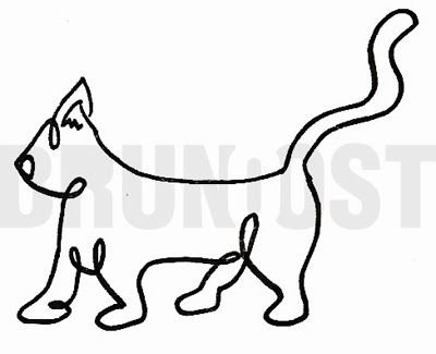 BRUNO OST | One-line drawing inspired by Picasso. | #10 Anothe cat. | October challenge #brunoost #illustration #ilustracao #portfolio